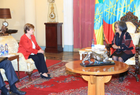 President Sahle-Work Zewde held talks with Kristalina Georgieva , Chief Executive Officer of the World Bank.